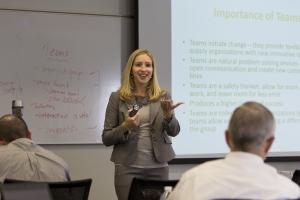 Photo of Author Dr. Jaime Bochantin Teaching for Exec Ed