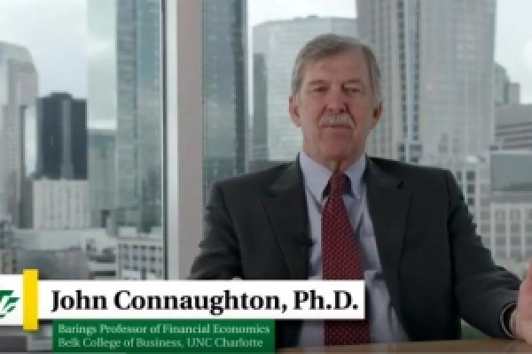 Still of John Connaughton's Video at the Economic Forecast