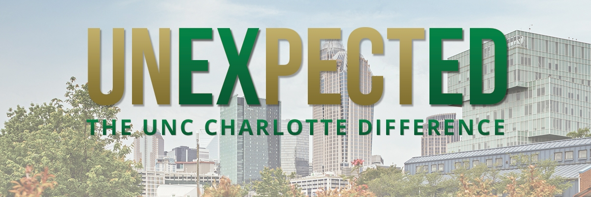 Graphic of Unexpected The UNC Charlotte Difference